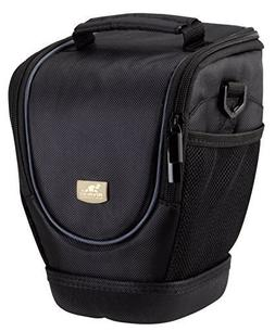 Rivacase 7205-B Zoom Lens DSLR Holster Camera Case, Laconic,